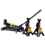 2.25T Trolley Jack and Jack Stands Combo
